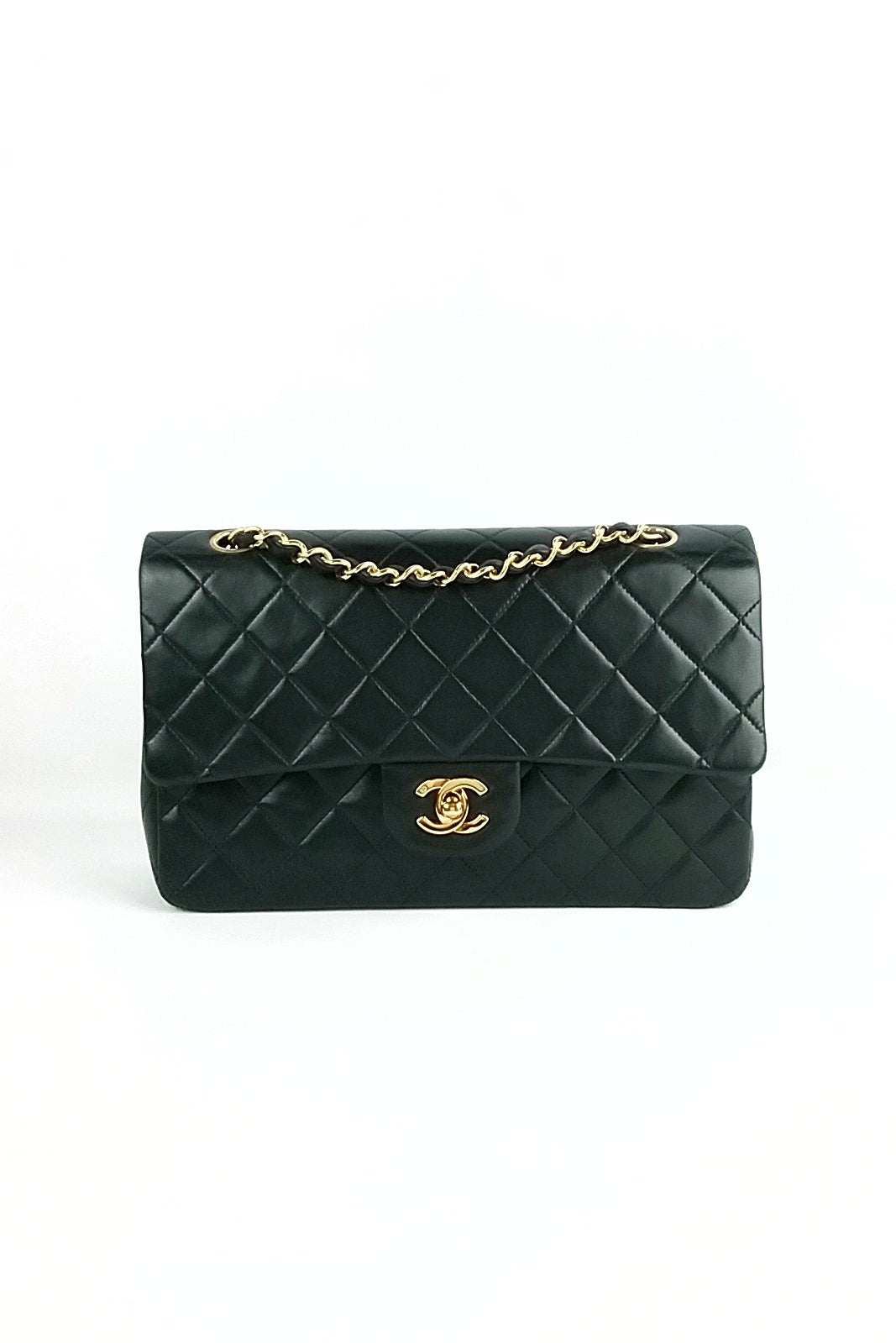 Black Lambskin Vintage Medium Double Flap