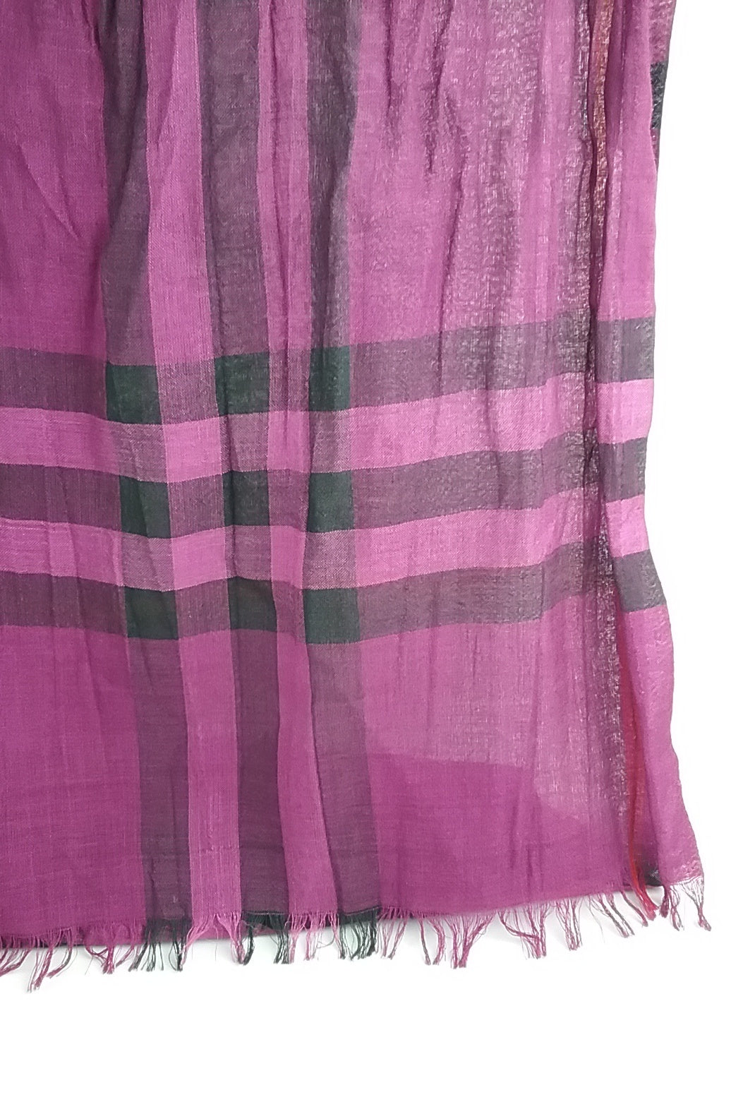 Purple Check Scarf
