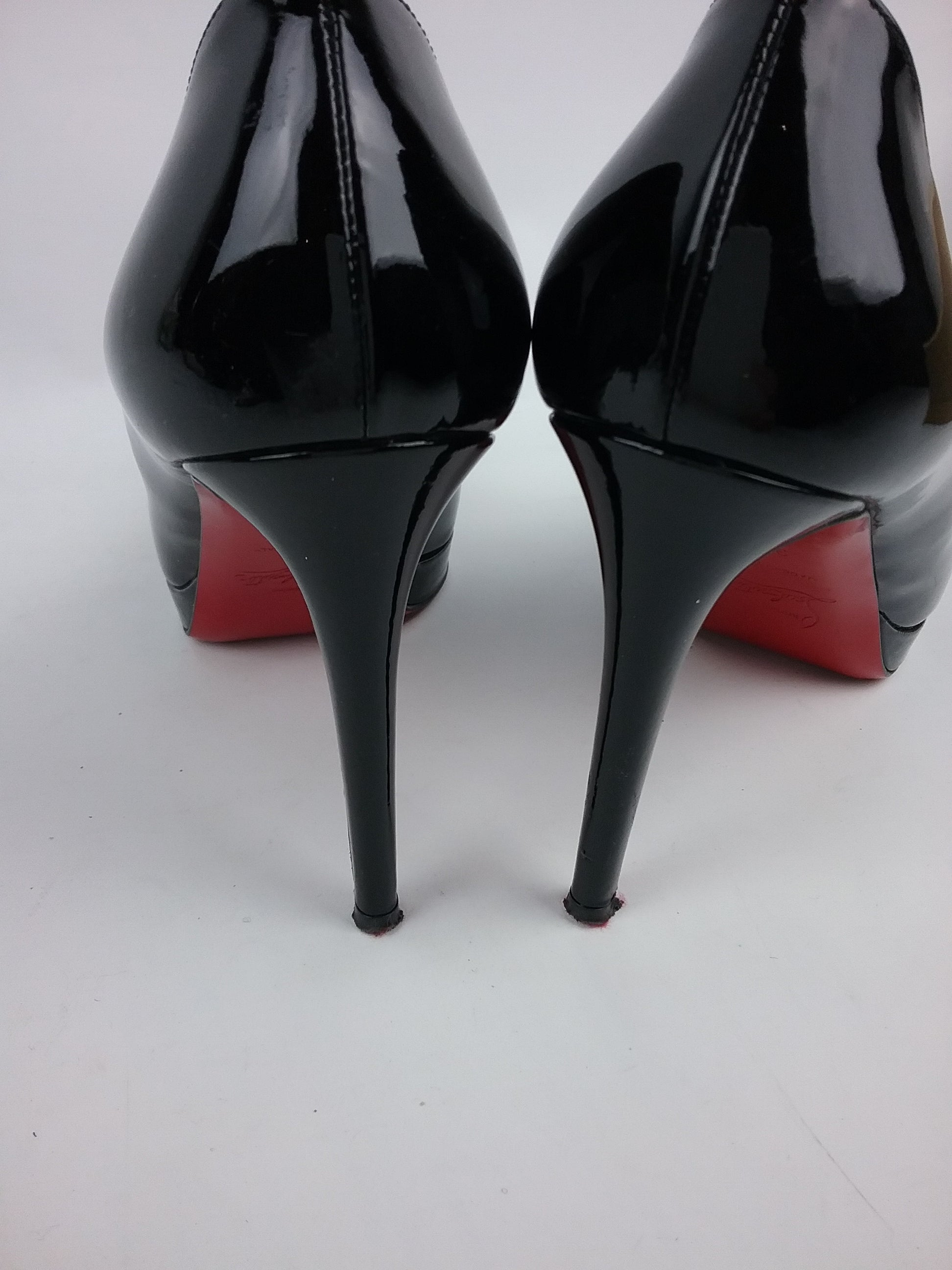 Black Patent Leather New Simple pump 100