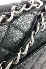 Black Caviar Jumbo Single Flap Bag
