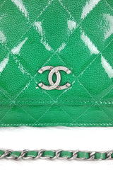 Green Patent Leather WOC (Wallet On Chain)