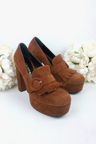 Brown Suede Pumps
