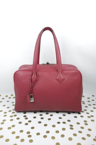 "Red Lambkin Matelasse 9"" Flap Bag w/ MGHW"