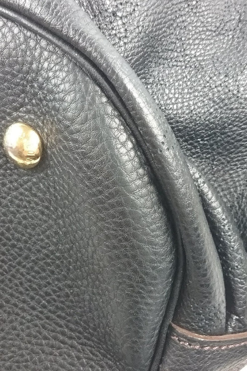 Black Mahina XL Leather Bag