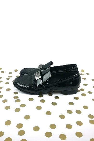 Black Patent Leather Loafers w/ Mademoiselle Turnlock Detail - Haute Classics