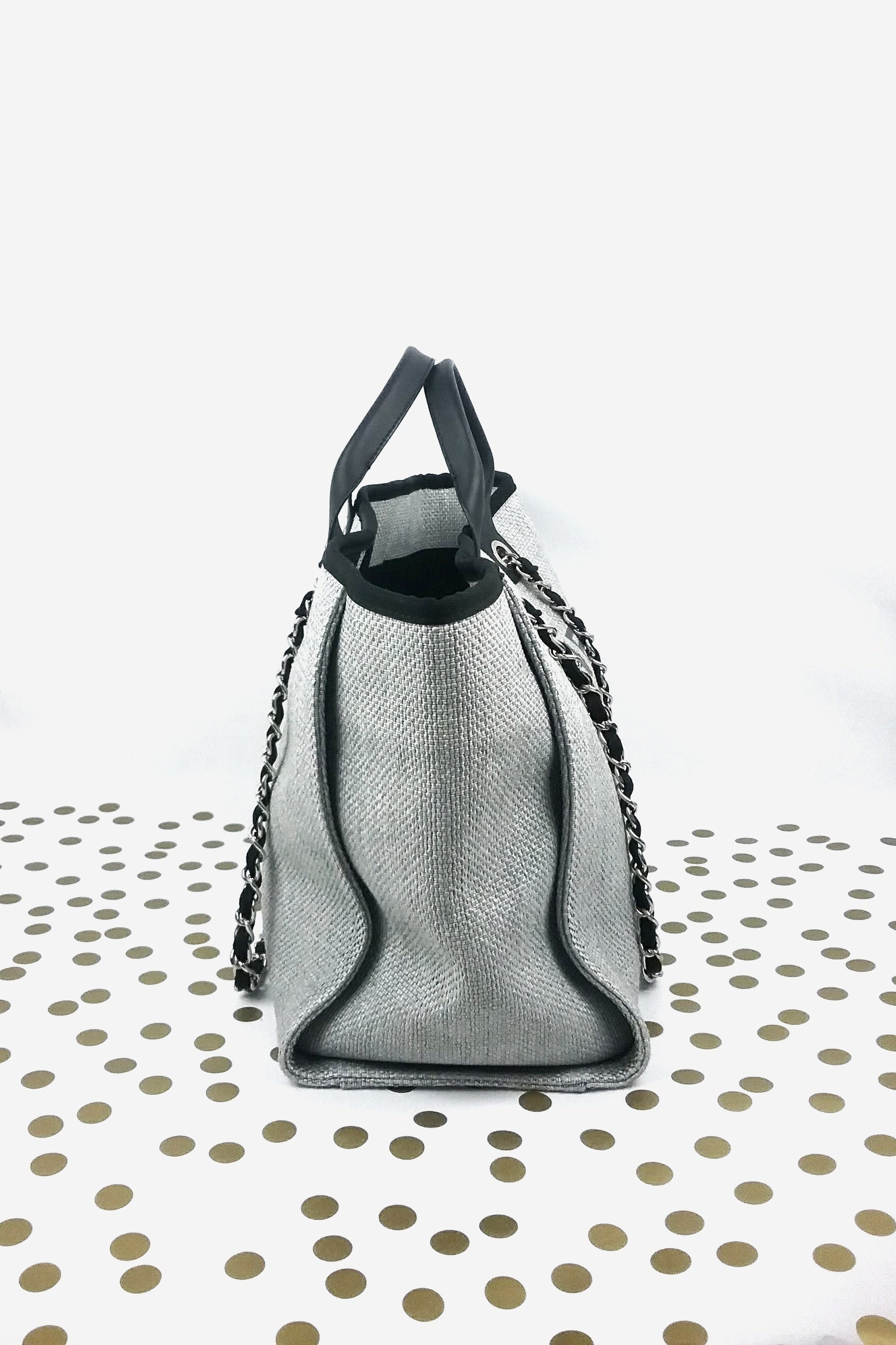 Grey Large Deauville Tote Bag - ON LAYAWAY