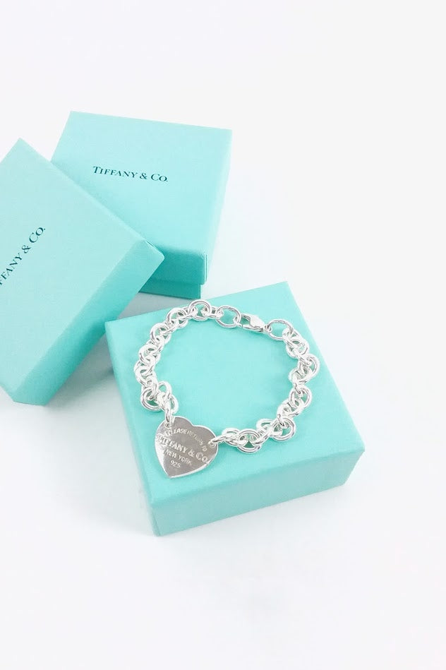 Sterling Silver Return To Tiffany Heart Tag Chain Bracelet