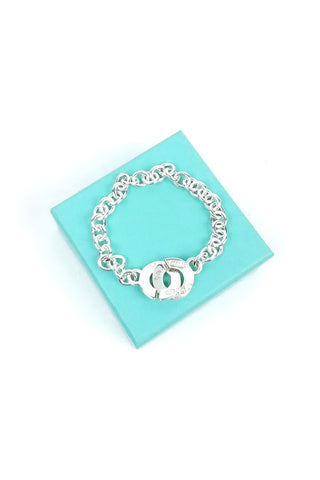 Sterling Silver 1837TM Circle Clasp Toggle Chain Bracelet