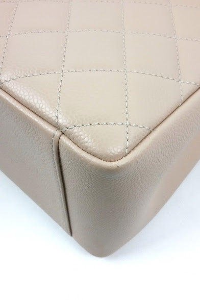 Beige Caviar GST Grand Shopping Tote w/ GHW