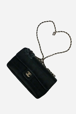 Black Caviar Large Filigree CC Vanity Case Bag
