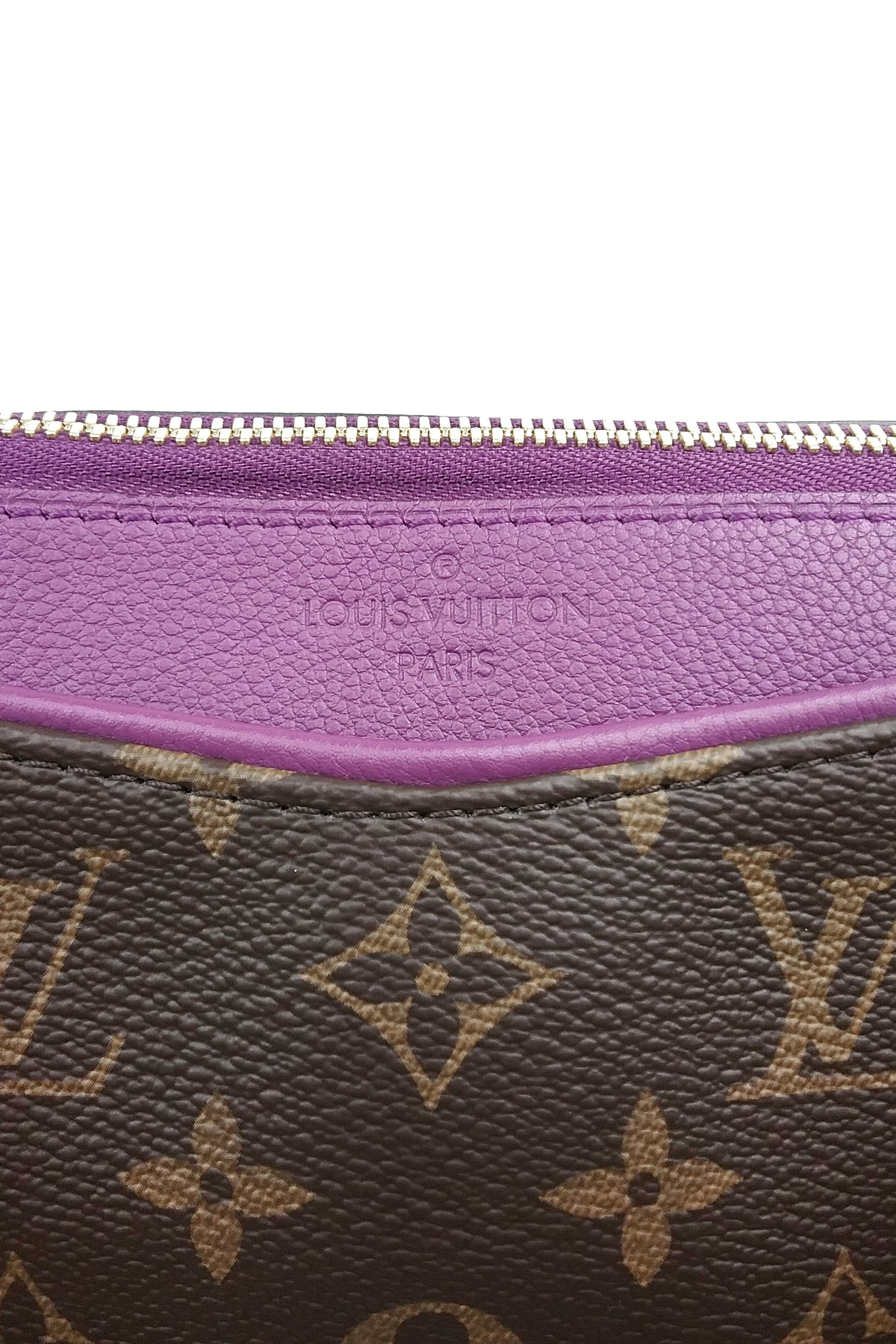 Monogram Pallas w/ Amethyst Leather Tote