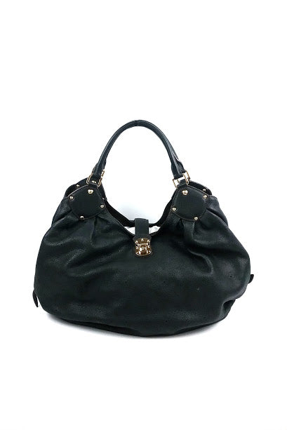 Black Monogram Mahina Leather L Bag - Haute Classics
