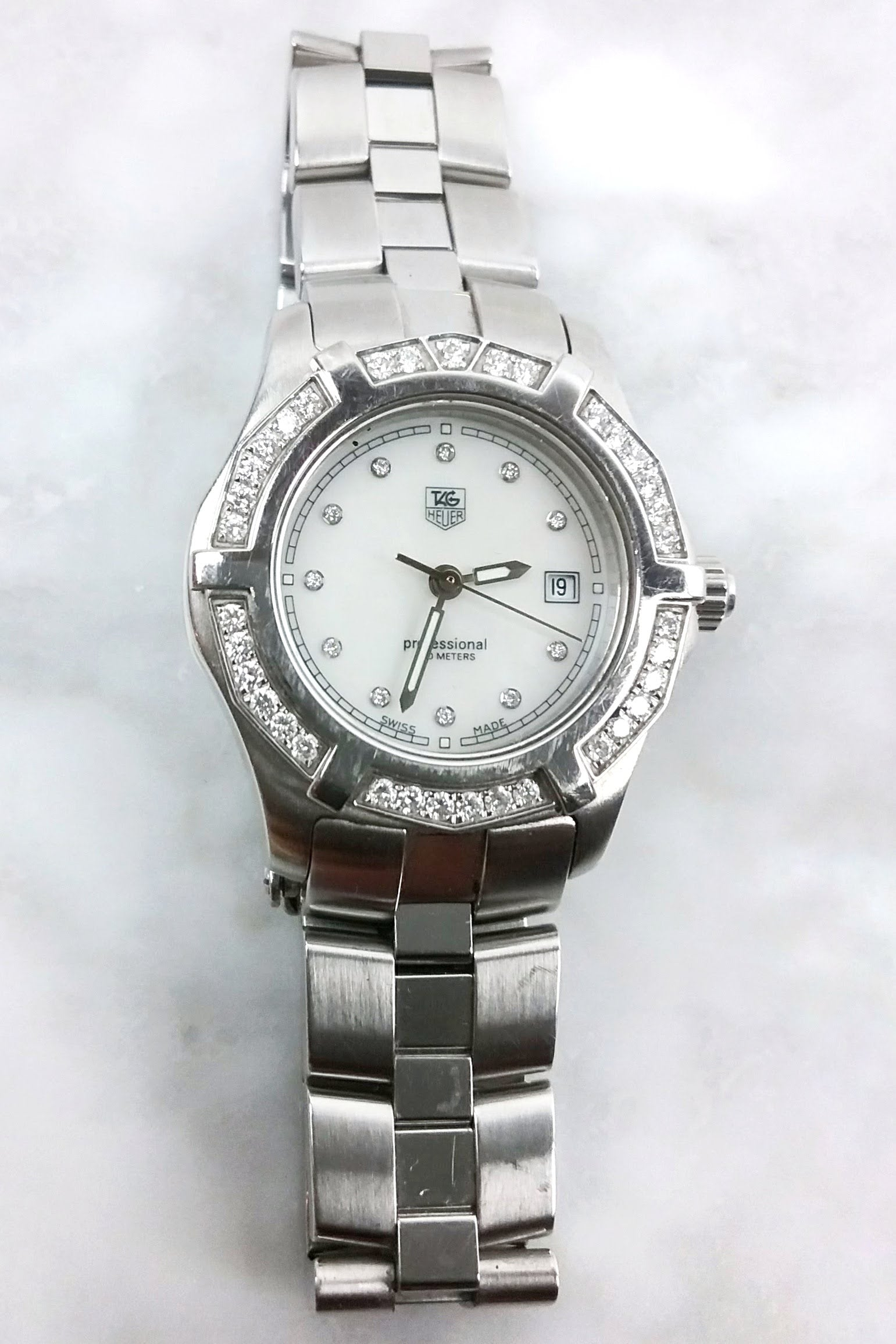 Professional Diamonds/Mother of Pearl Watch