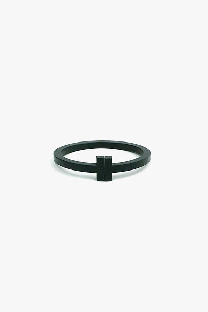 Black Coated Stainless Steel T Wire Bracelet