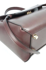 Brown Smooth Leather Mini Belt Bag