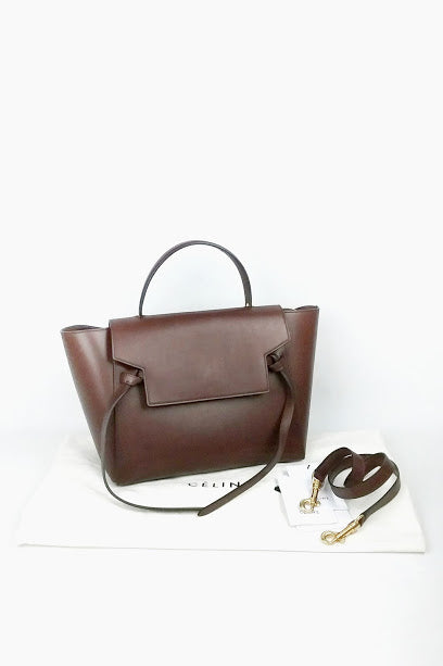 Brown Smooth Leather Mini Belt Bag - Haute Classics
