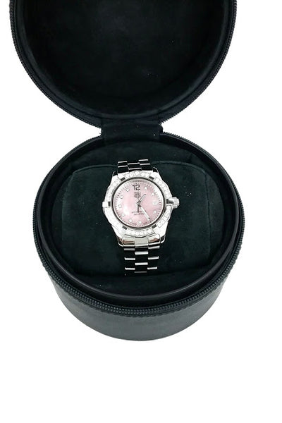 Pink Mother of Pearl Aquaracer 28mm Watch w/ 45 Diamonds