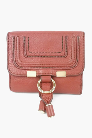 Brick Pebbled Leather Marcie Square Wallet