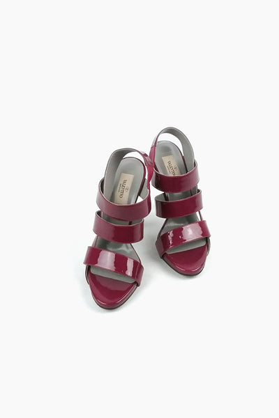 Patent Leather Strap Leather Sandals