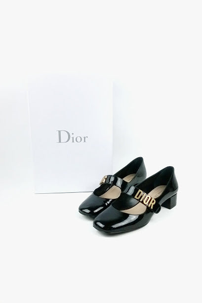 """Baby D"" Black Patent Leather Mary Janes"