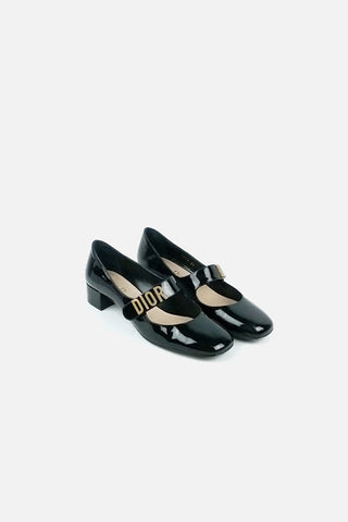 """Baby D"" Black Patent Leather Mary Janes - Haute Classics"