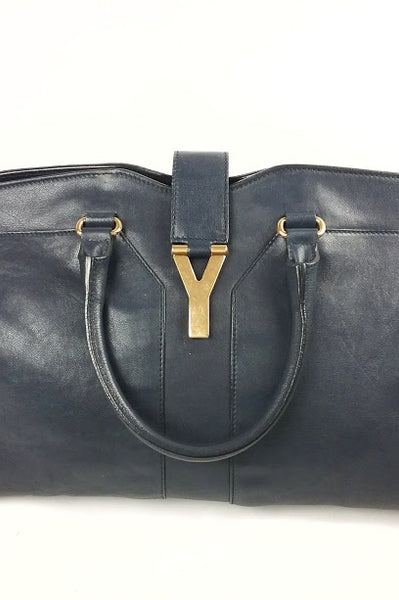 Navy Leather chYc Tote Bag