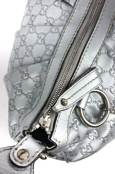 Silver Leather Guccisima Sukey Bag