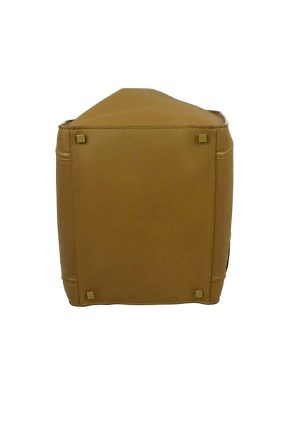 Mustard Yellow Drummed Leather Phantom Bag