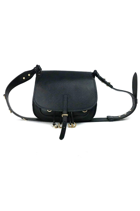 Limited Edition Flowers Black Epi Leather Alma BB Bag
