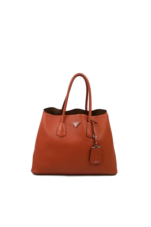 Papaya City Calf Tote SHW