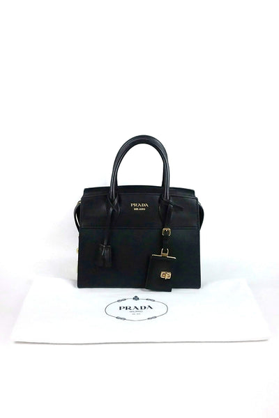 Black Saffiano & City Leather Esplanade Bag & Detachable Strap GHW - Haute Classics