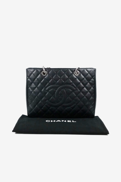 Black Caviar Grand Shopping Tote GST w/ SHW - ON LAYAWAY - Haute Classics