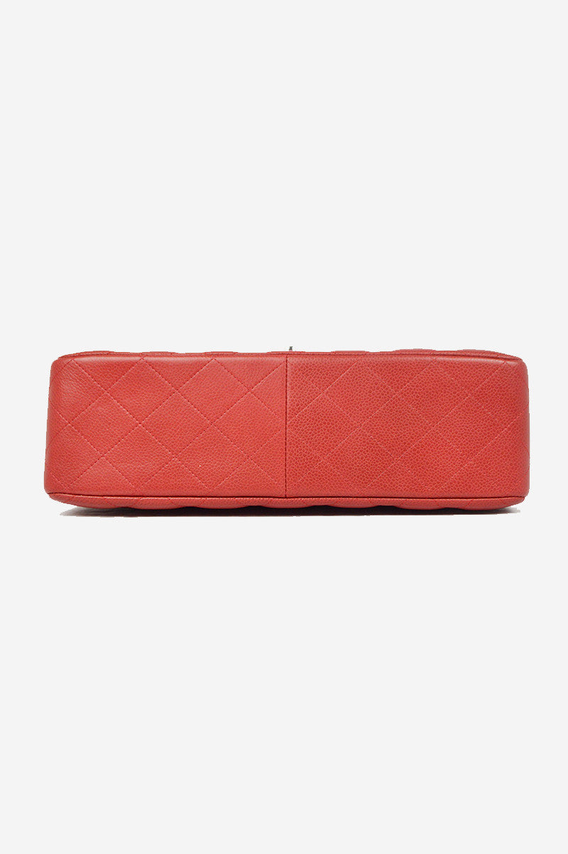 Rouge Caviar Jumbo Double Flap Bag- ON LAYAWAY