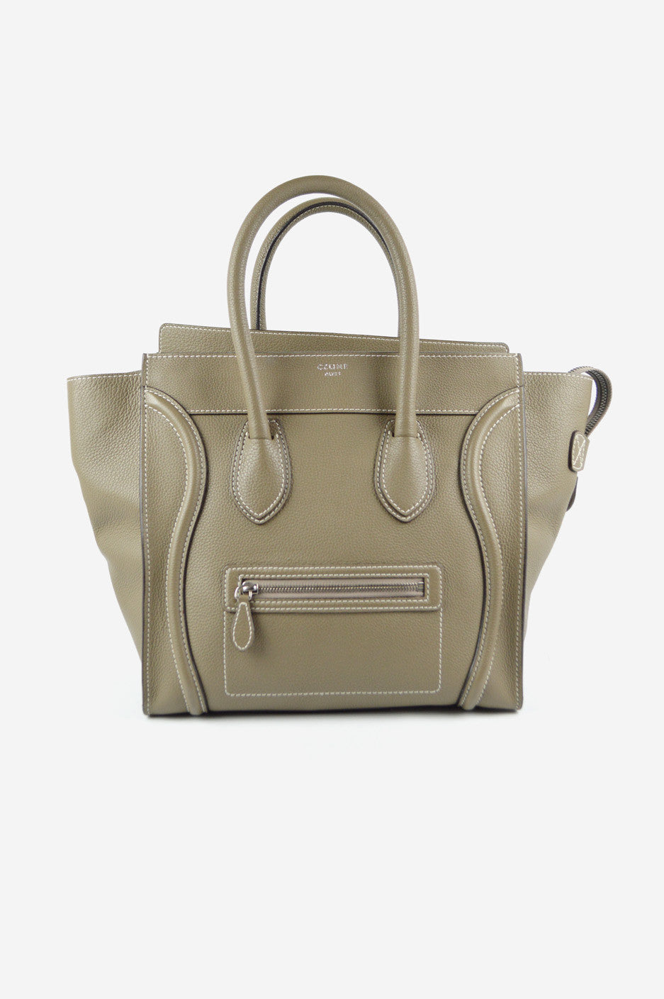 Taupe Mini Luggage Tote