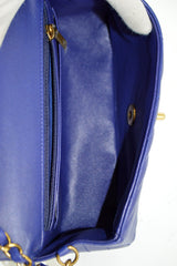 Indigo Lambskin Chevron Rectangular Mini Bag GHW - ON LAYAWAY