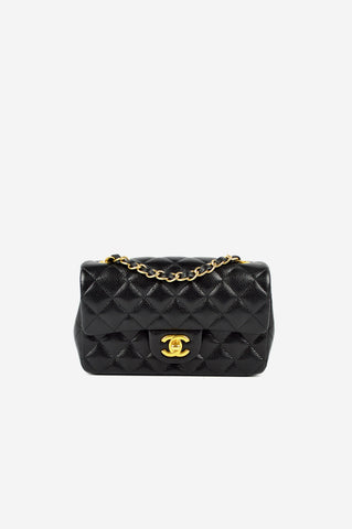 Black Caviar Rectangle Mini Bag GHW