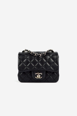 Black Caviar Square Mini Bag SHW - ON LAYAWAY
