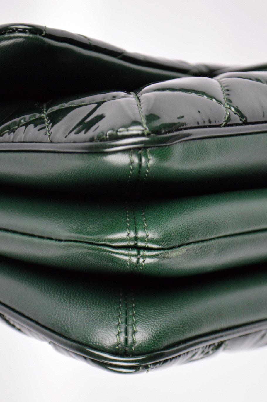 Green Patent Leather Jumbo 3 Classic Flap Bag SHW - ON LAYAWAY