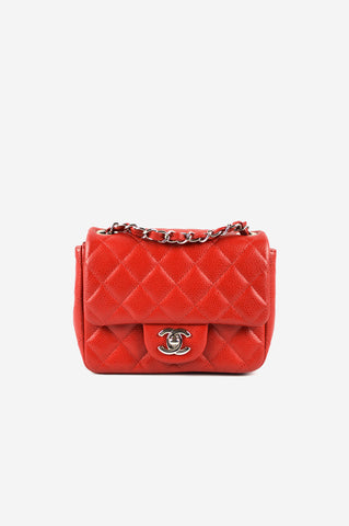 Red Caviar Square Mini Bag SHW (ON LAYAWAY)