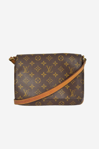 Monogram Coated Canvas Musette Tango Bag