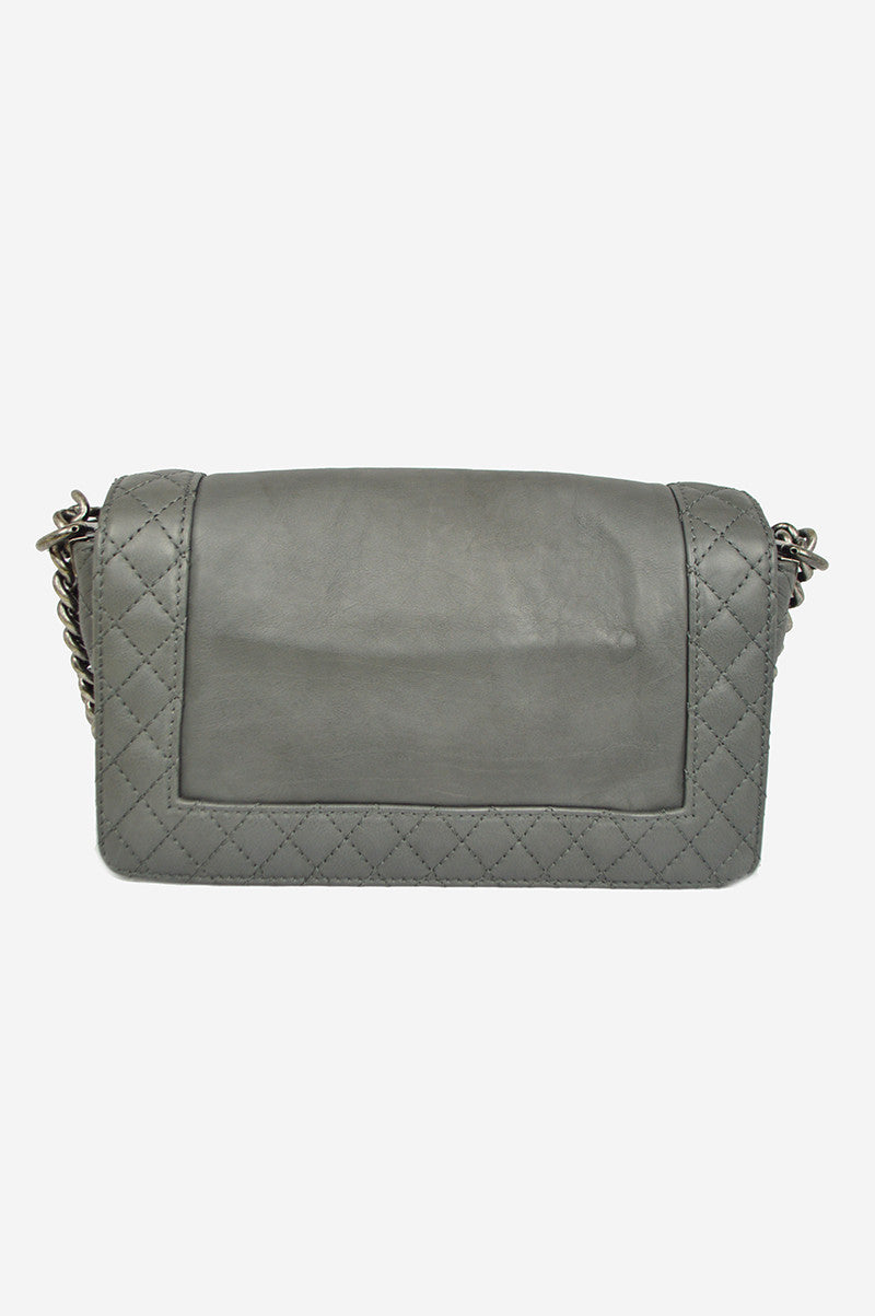 Gray Reverso Medium Flap Boy  Bag - Haute Classics