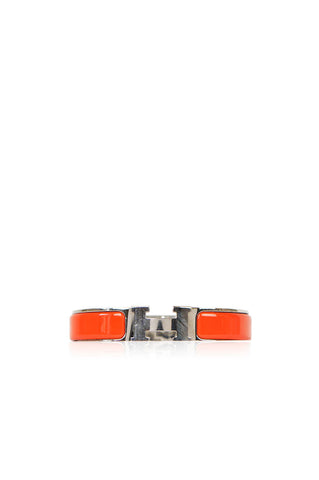 Orange Narrow Clic Clac H Bracelet - Haute Classics