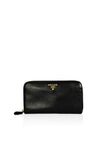 Black Saffiano Leather Zip-Around Wallet - Haute Classics