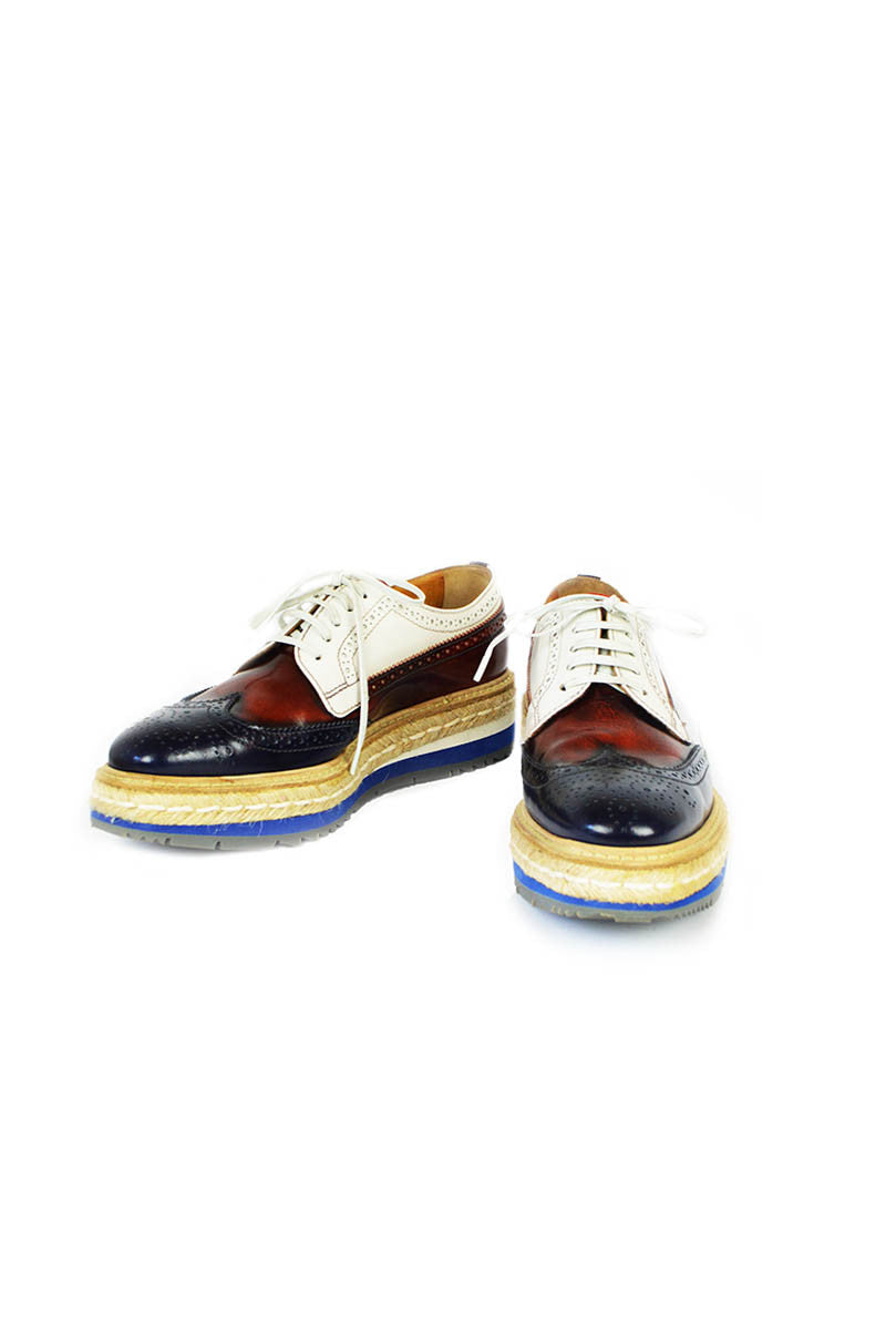 Red, White & Blue Espadrilles Oxfords