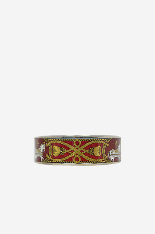 Horse & Gold Cord Print Bangle - Haute Classics