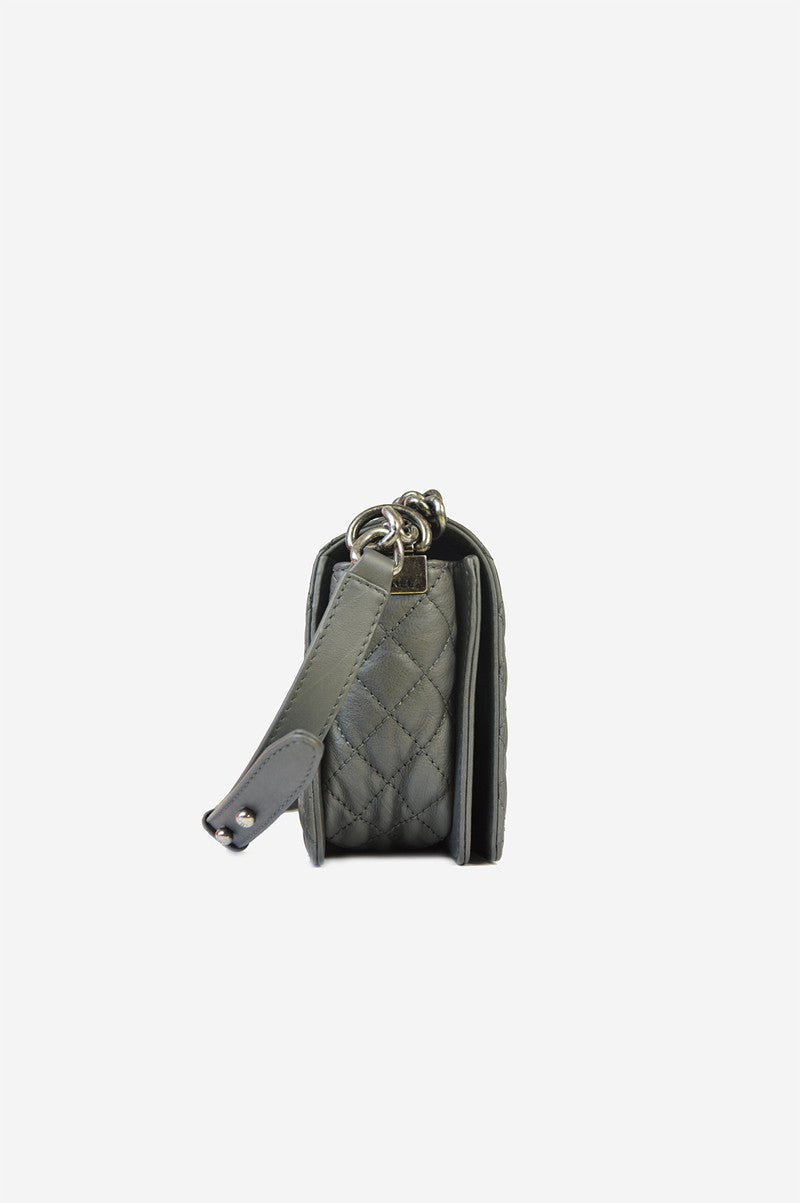 Grey Reverso Medium Flap Boy  Bag - ON LAYAWAY