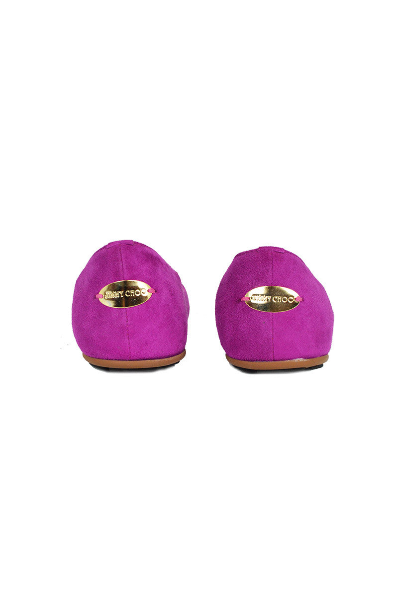 Purple Suede Flats