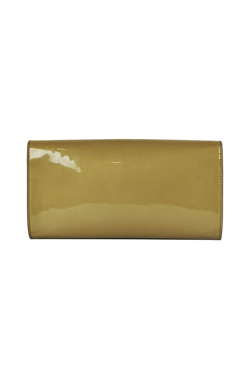 Taupe Patent Leather Belle du Jour Clutch