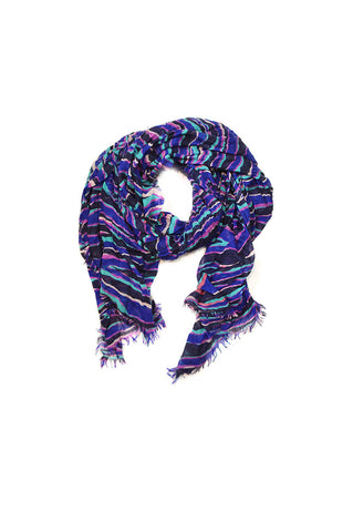 Purple & Pink Striped Cashmere Scarf