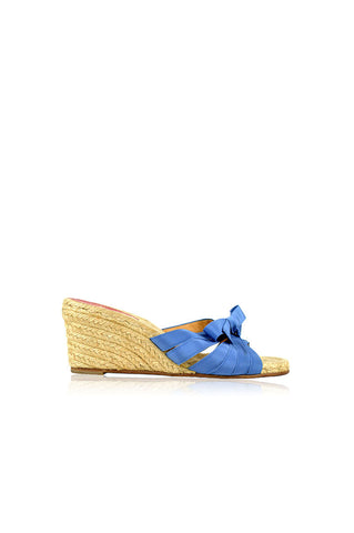 Blue Ribbon Espadrilles Wedges - Haute Classics